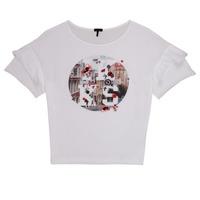 Kleidung Mädchen T-Shirts Ikks DIBILIOU Weiss