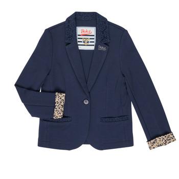 Kleidung Mädchen Jacken / Blazers Ikks NIKO Marine