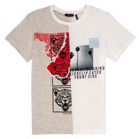 Kleidung Jungen T-Shirts Ikks RULIO Beige / Weiss