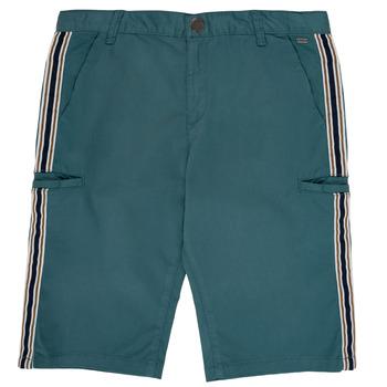 Kleidung Jungen Shorts / Bermudas Ikks MANUEL Blau / Grün