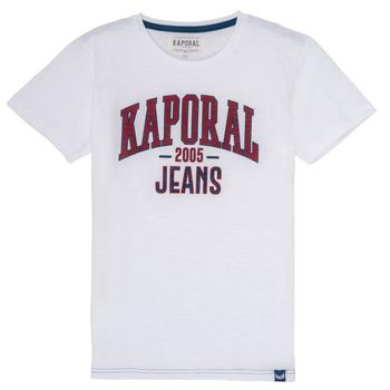 Kleidung Jungen T-Shirts Kaporal ERNIE Weiss
