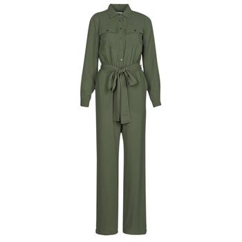 Kleidung Damen Overalls / Latzhosen MICHAEL Michael Kors ROLL SLV SAFARI JMPST Kaki