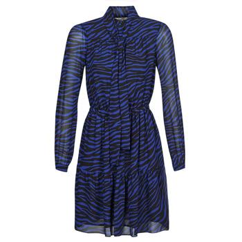 Kleidung Damen Kurze Kleider MICHAEL Michael Kors BOLD BENGAL TIER DRS Blau / Schwarz