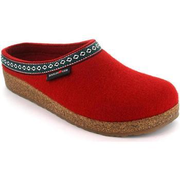 Schuhe Damen Hausschuhe Haflinger HF-FRANZL-red-D ROSSO