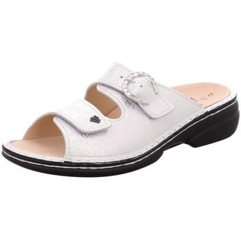 Schuhe Damen Pantoffel Finn Comfort Pantoletten Mumbai 02556 641297 silber