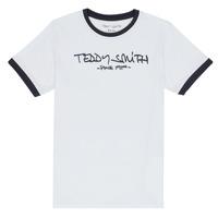 Kleidung Jungen T-Shirts Teddy Smith TICLASS 3 Weiss