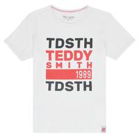 Kleidung Jungen T-Shirts Teddy Smith DUSTIN Weiss