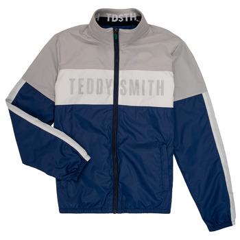 Kleidung Jungen Jacken Teddy Smith HERMAN Grau / Marine