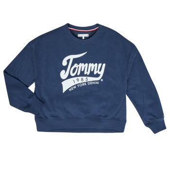Kleidung Mädchen Sweatshirts Tommy Hilfiger KG0KG04955 Marine