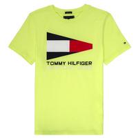 Kleidung Jungen T-Shirts Tommy Hilfiger  Gelb