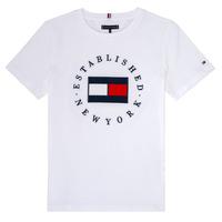 Kleidung Jungen T-Shirts Tommy Hilfiger KB0KB05718 Weiss