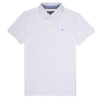 Kleidung Jungen Polohemden Tommy Hilfiger KB0KB03975 Weiss
