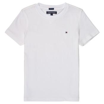 Kleidung Jungen T-Shirts Tommy Hilfiger KB0KB04140 Weiss