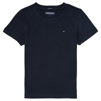 Kleidung Jungen T-Shirts Tommy Hilfiger KB0KB04140 Marine