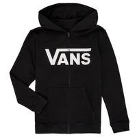 Kleidung Jungen Sweatshirts Vans BY VANS CLASSIC ZIP HOODIE Schwarz