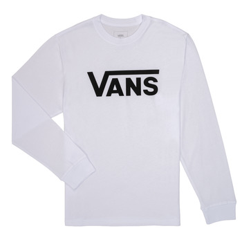 Kleidung Jungen Langarmshirts Vans BY VANS CLASSIC LS Weiss