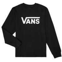 Kleidung Jungen Langarmshirts Vans BY VANS CLASSIC LS Schwarz