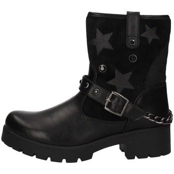 Schuhe Mädchen Ankle Boots Asso AG-4004 Schwarz