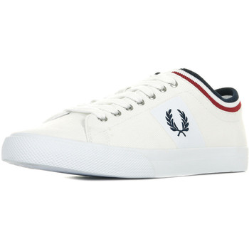 Schuhe Herren Sneaker Low Fred Perry Underspin Tipped Cuff Weiss