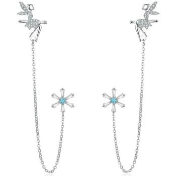 Uhren Damen Ohrringe Blue Pearls CRY C2334 J Multicolor
