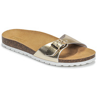 Schuhe Damen Pantoffel Only MADISON METALLIC LEATHER Gold