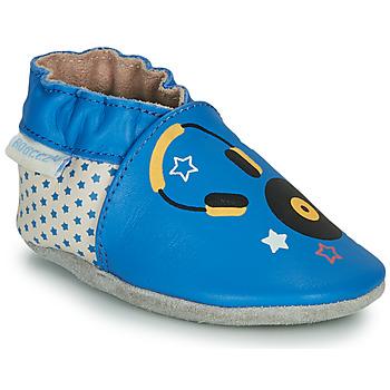 Schuhe Kinder Hausschuhe Robeez MUSIC SOUND Blau / Beige