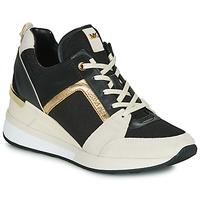 Schuhe Damen Sneaker Low MICHAEL Michael Kors GEORGIE Schwarz / Beige / Gold