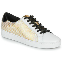 Schuhe Damen Sneaker Low MICHAEL Michael Kors IRVING LACE UP Weiss / Schwarz / Gold