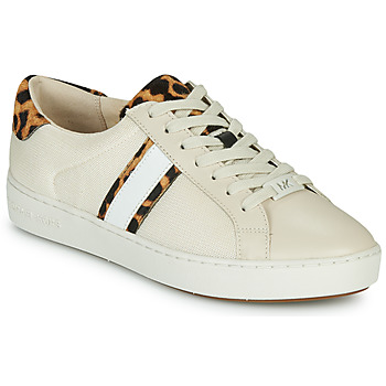 Schuhe Damen Sneaker Low MICHAEL Michael Kors IRVING STRIPE LACE UP Naturfarben / Leopard