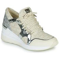 Schuhe Damen Sneaker Low MICHAEL Michael Kors LIV TRAINER Beige / Silbern