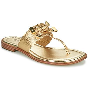 Schuhe Damen Zehensandalen MICHAEL Michael Kors RIPLEY THONG Gold