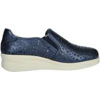 Schuhe Damen Slipper Riposella 75509 Blau