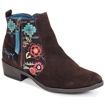 Schuhe Damen Low Boots Desigual NATALIA Schokolade