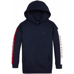 Kleidung Mädchen Sweatshirts Tommy Hilfiger Kids ESSENTIAL COLORBLOCK LOGO HOODIE blue