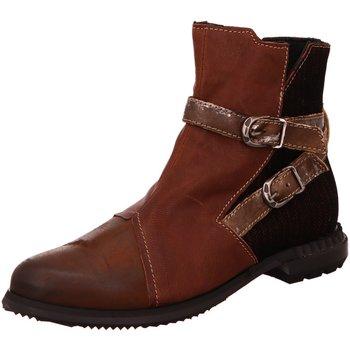 Schuhe Damen Boots Charme Stiefeletten 916-C braun