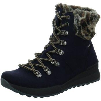 Schuhe Damen Stiefel Westland Stiefeletten SCHNÜRSTIEFEL 50117 109 530 blau