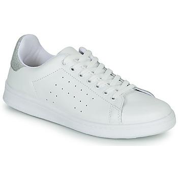 Schuhe Damen Sneaker Low Yurban SATURNA Weiss / Silbern