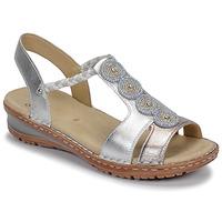 Schuhe Damen Sandalen / Sandaletten Ara HAWAII Weiss / Silbern