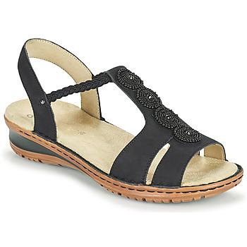 Schuhe Damen Sandalen / Sandaletten Ara HAWAII Schwarz