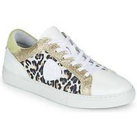 Schuhe Damen Sneaker Low Philippe Morvan FURRY Weiss / Leopard / Glitterfarbe