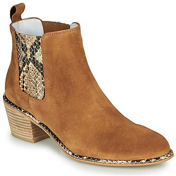 Schuhe Damen Klassische Stiefel Regard NINA V6 PESCA P CUOIO Braun