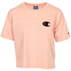 Kleidung Damen T-Shirts Champion Crewneck T-Shirt Rose