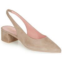 Schuhe Damen Pumps Pretty Ballerinas ANGELIS SAFARI Beige