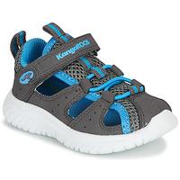 Schuhe Jungen Sandalen / Sandaletten Kangaroos KI-ROCK LITE EV Grau / Blau