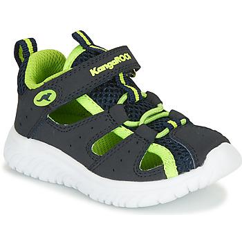 Schuhe Jungen Sandalen / Sandaletten Kangaroos KI-ROCK LITE EV Blau / Gelb