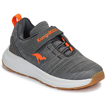 Schuhe Kinder Sneaker Low Kangaroos KB-Hook EV Grau / Orange