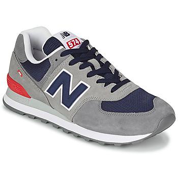 Schuhe Herren Sneaker Low New Balance 574 Grau / Blau / Rot