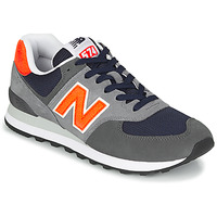 Schuhe Herren Sneaker Low New Balance 574 Grau / Orange