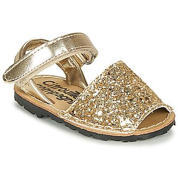 Schuhe Mädchen Sandalen / Sandaletten Citrouille et Compagnie SQUOUBEL Gold