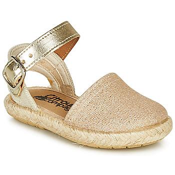 Schuhe Mädchen Sandalen / Sandaletten Citrouille et Compagnie MIOSOTIS Gold